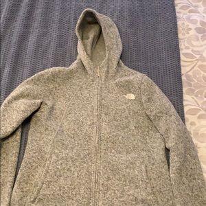 Heather Gray North Face Jacket
